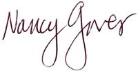 Nancy Gruver signature