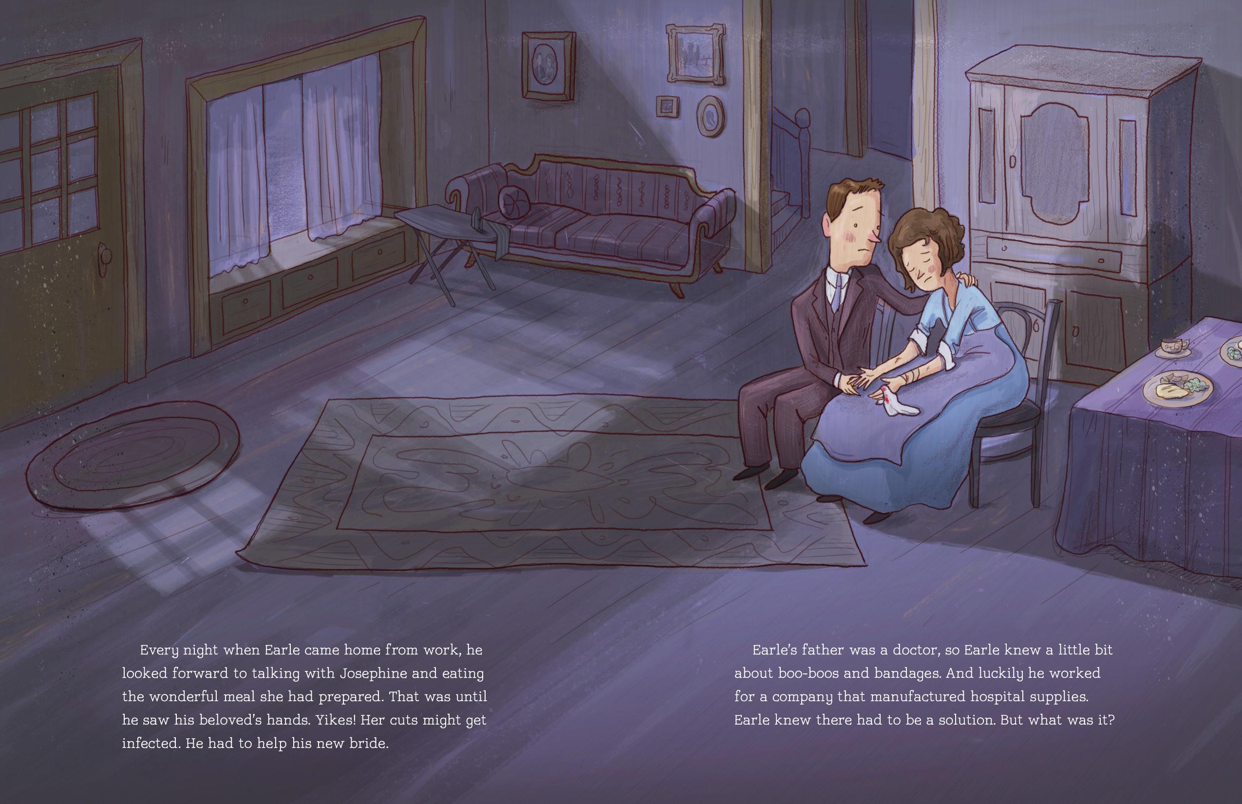 Boo-Boos interior illustration